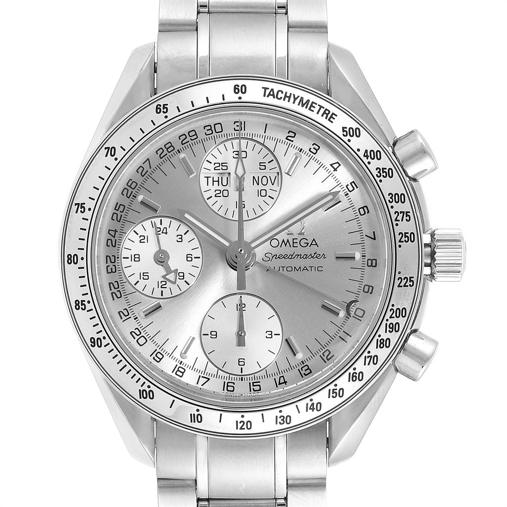 Omega Speedmaster Day Date Chronograph Mens Watch 3523.30.00 Box SwissWatchExpo