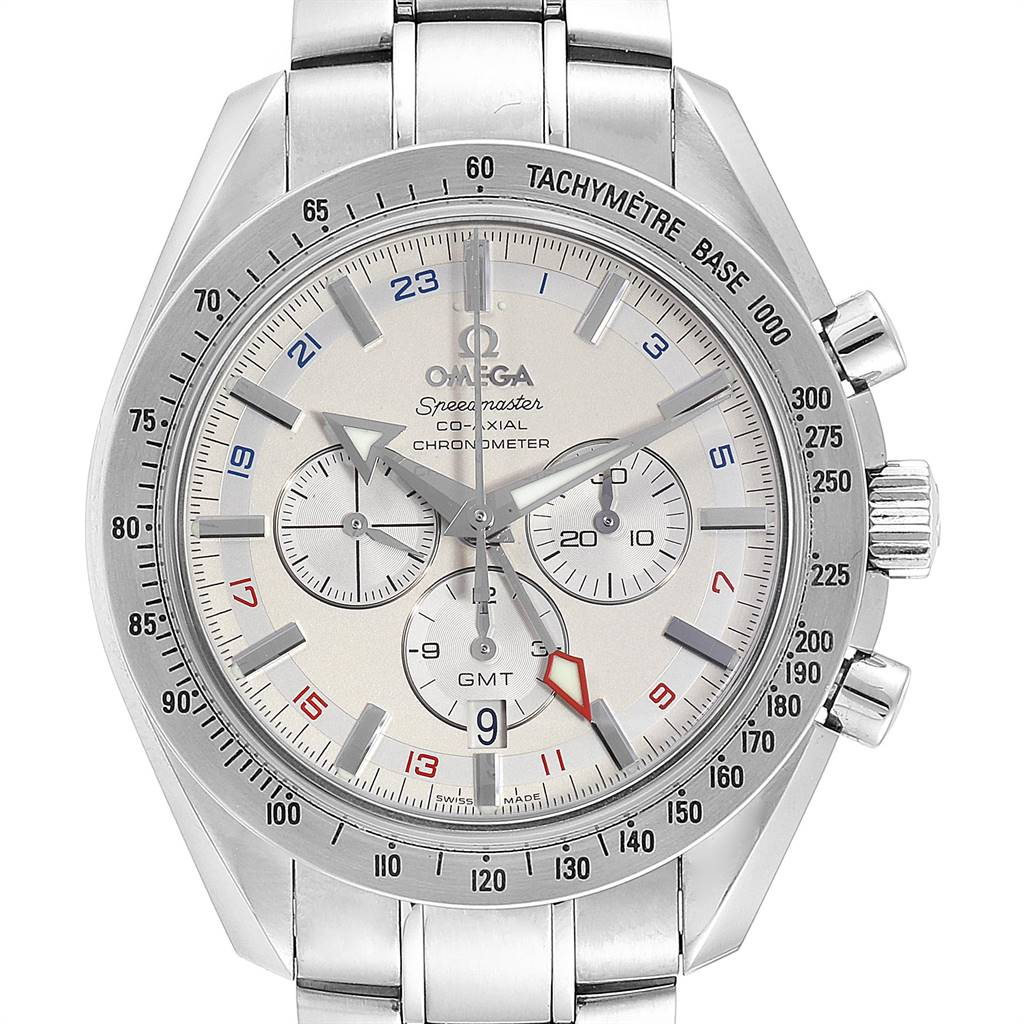 Photo of Omega Speedmaster Broad Arrow Co-Axial GMT Mens Watch 3581.30.00