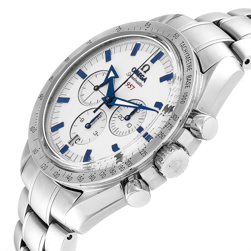 25473 Omega Speedmaster Broad Arrow 1957 Silver Dial Watch 321.10.42.50.02.001 SwissWatchExpo