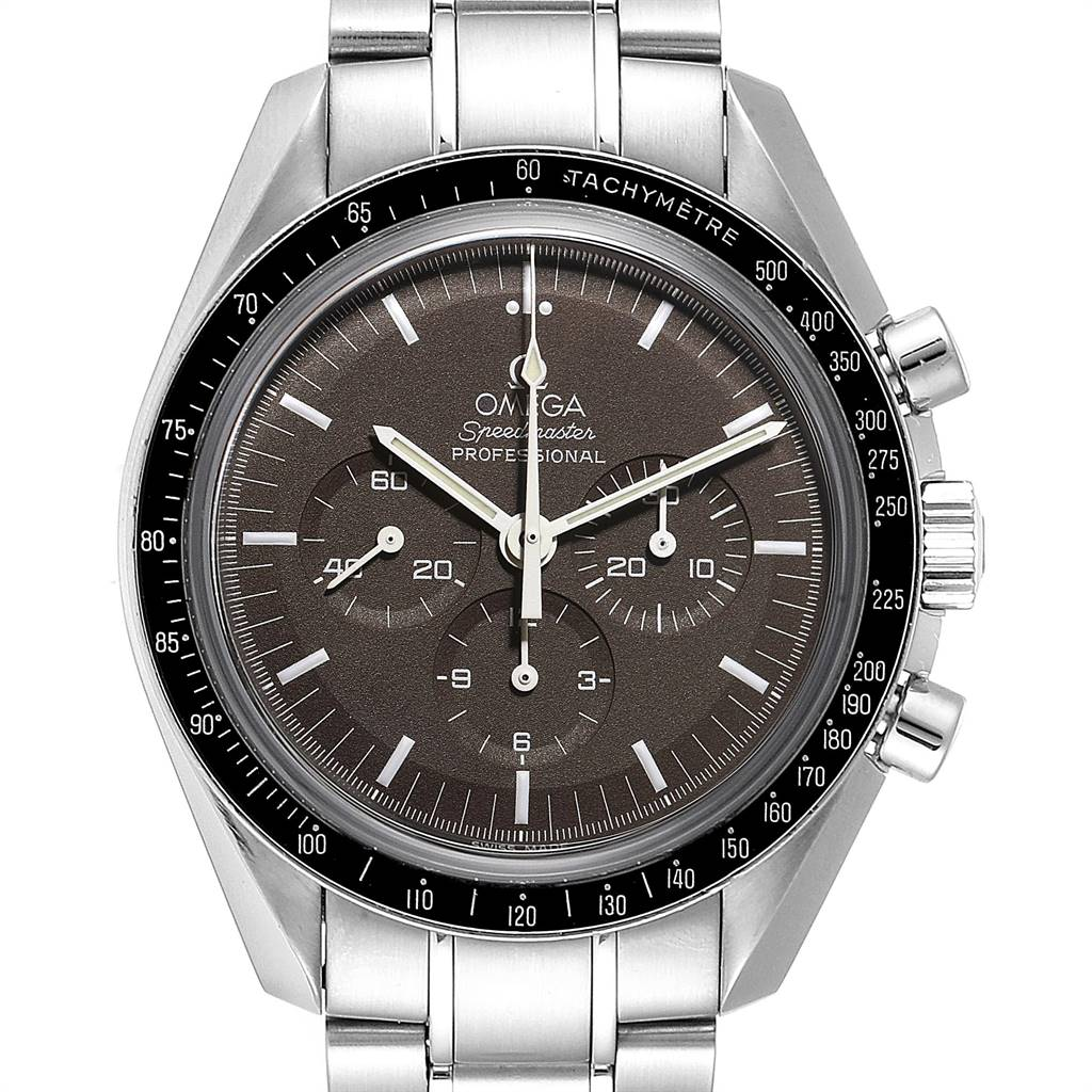 Omega Speedmaster Brown Dial Moon Watch 311.30.42.30.13.001 Card SwissWatchExpo