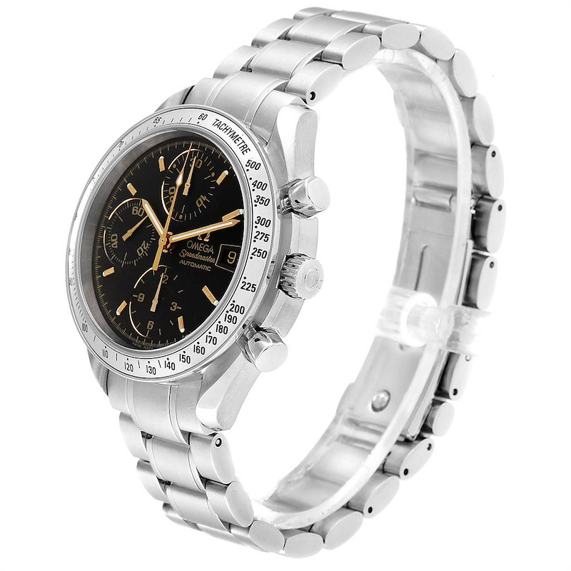Omega Speedmaster Date Black Dial Steel Mens Watch 3513.54.00 Card SwissWatchExpo