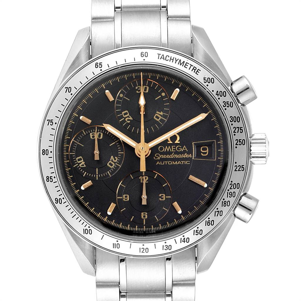 Photo of Omega Speedmaster Date Black Dial Steel Mens Watch 3513.54.00 Card