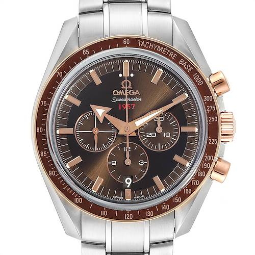 Photo of Omega Speedmaster Broad Arrow 1957 Steel Rose Gold Watch 321.90.42.50.13.002