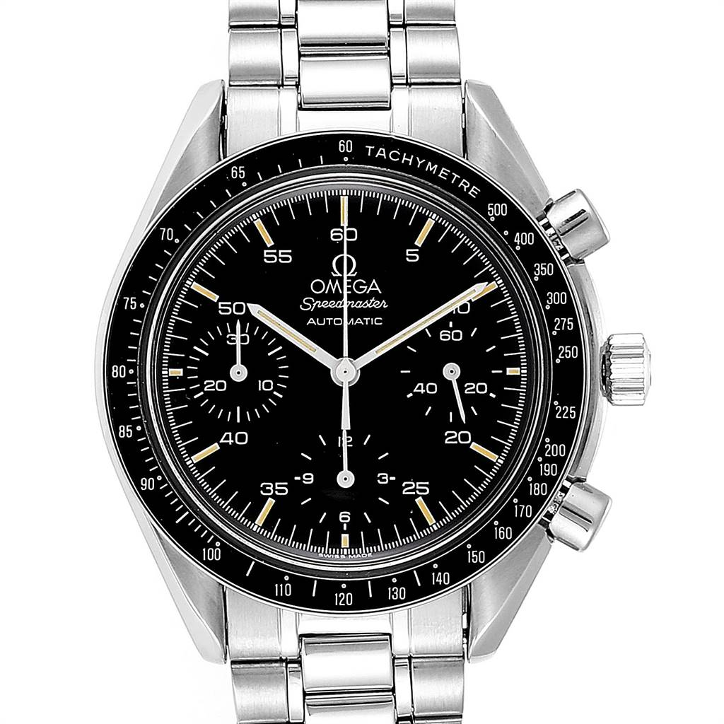 Photo of Omega Speedmaster Reduced Automatic Mens Watch 3510.50.00 Card