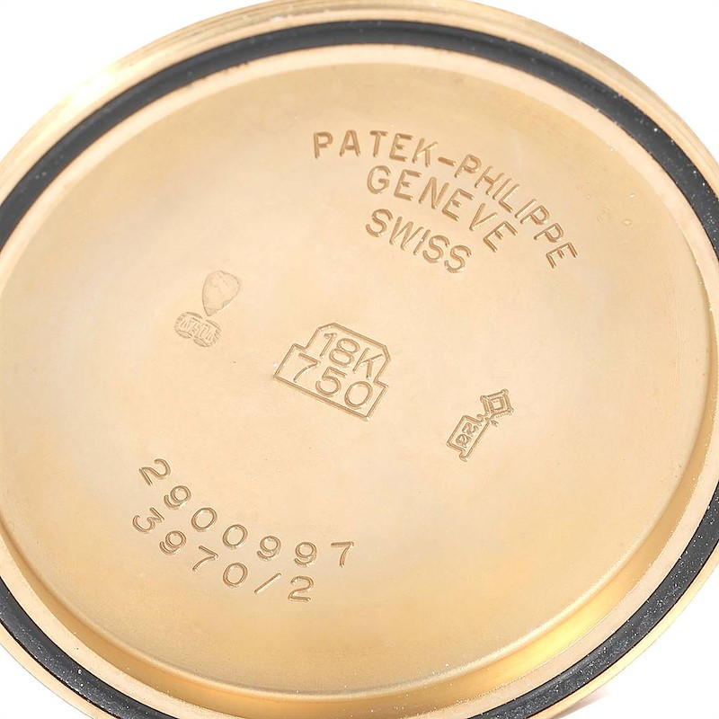 Patek Philippe Perpetual Calendar Chronograph Yellow Gold Mens Watch 3970 SwissWatchExpo