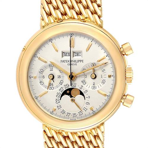 Photo of Patek Philippe Perpetual Calendar Chronograph Yellow Gold Mens Watch 3970