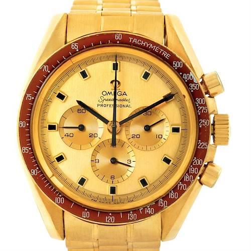 Photo of Omega Speedmaster Apollo Moon Vintage Yellow Gold Watch 145022