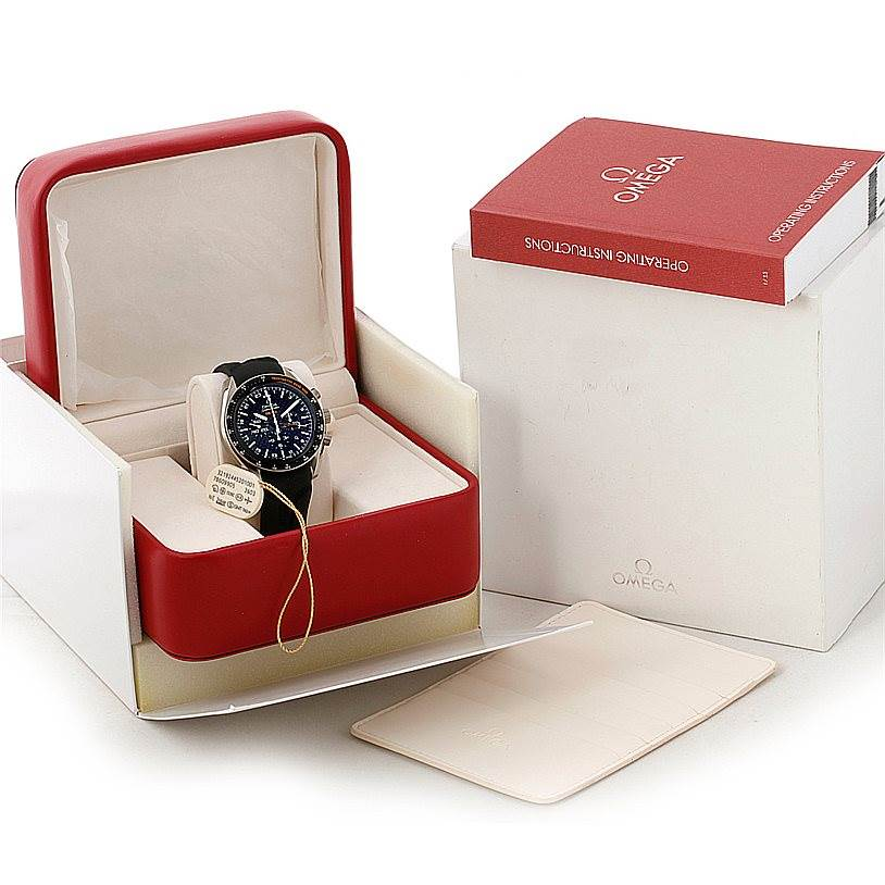 8246 OMEGA Speedmaster HB-SIA Co-Axial GMT Watch 321.92.44.52.01.001 SwissWatchExpo