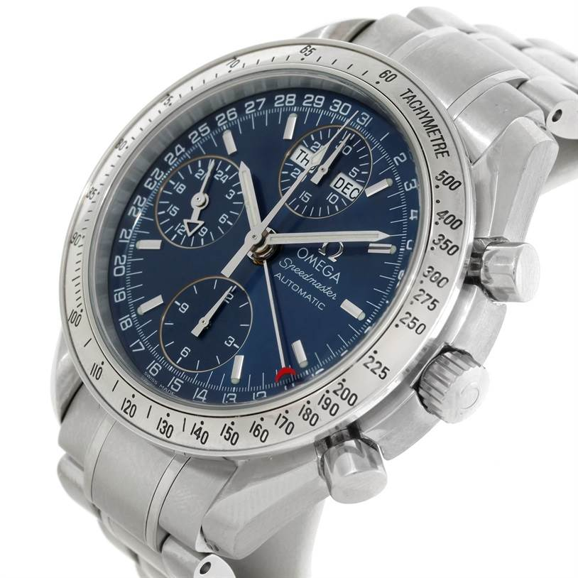 8966 Omega Speedmaster Automatic Day Date Mens Watch 3523.80.00 SwissWatchExpo