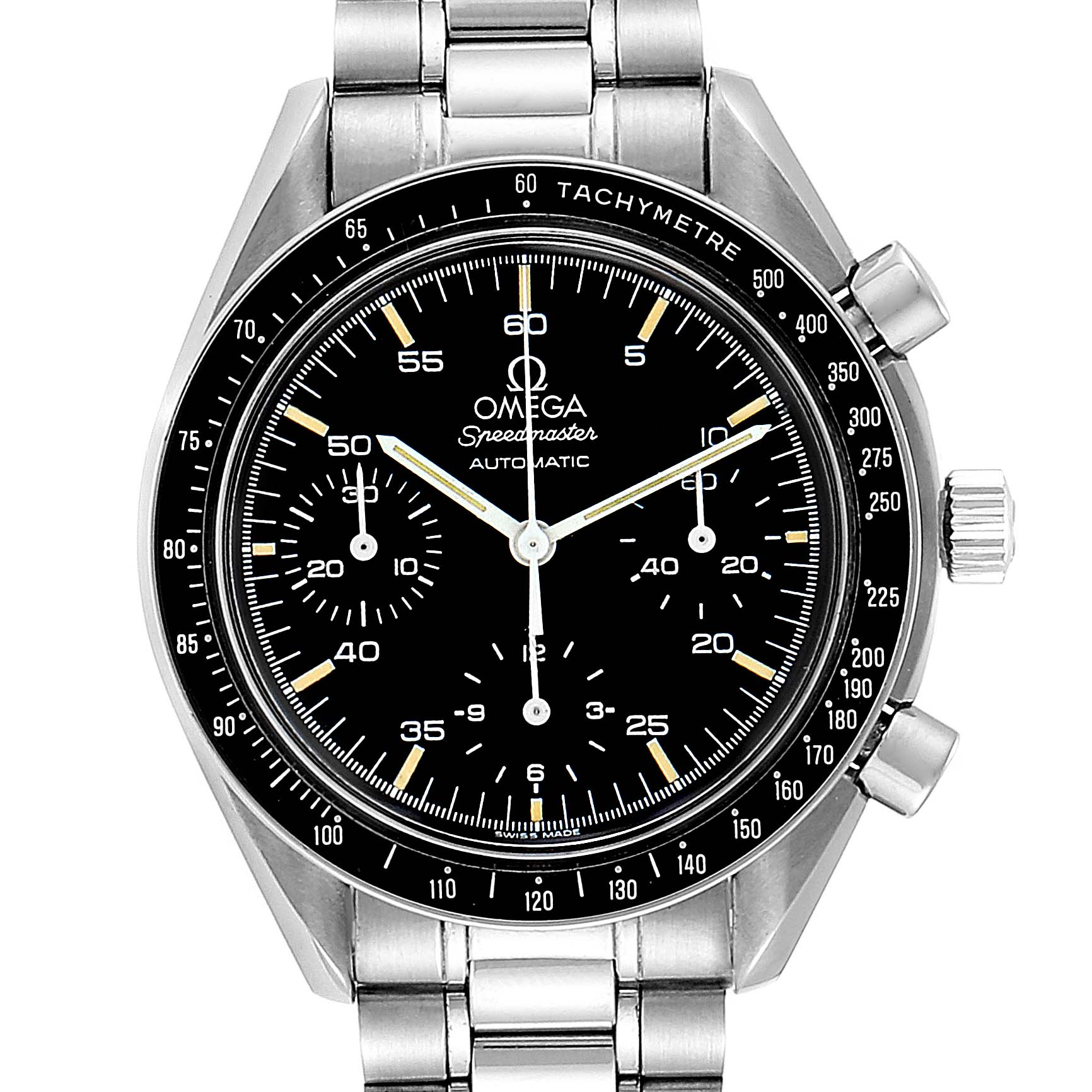 Omega Speedmaster Reduced Automatic Mens Watch 3510.50.00 SwissWatchExpo