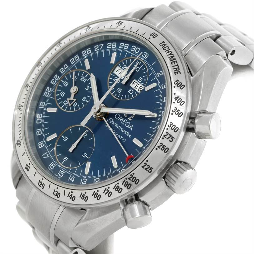 mens omega speedmaster automatic day date 3523 80 00