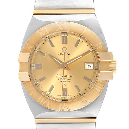 Photo of Omega Constellation Perpetual Calendar Steel Yellow Gold Watch 1211.10.00