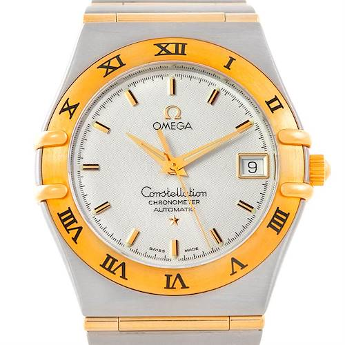 Photo of Unworn Omega Constellation Mens 1202.30.00 Steel 18K Yellow Gold Watch