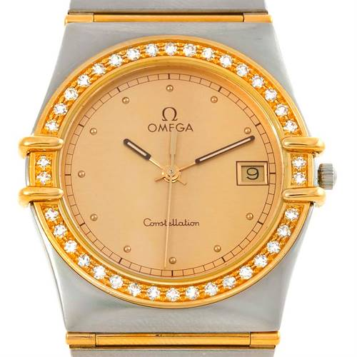 Photo of Omega Constellation Steel 18K Yellow Gold Diamond Mens Watch