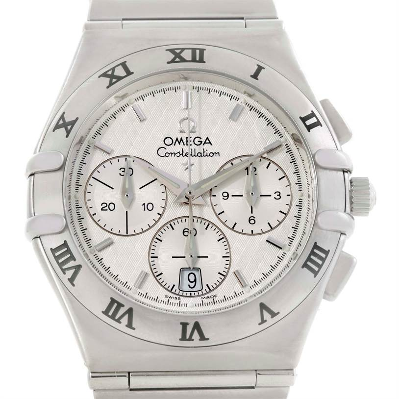 9789 Omega Constellation Mens Stainless Steel Chronograph Watch 1542.30.00 SwissWatchExpo