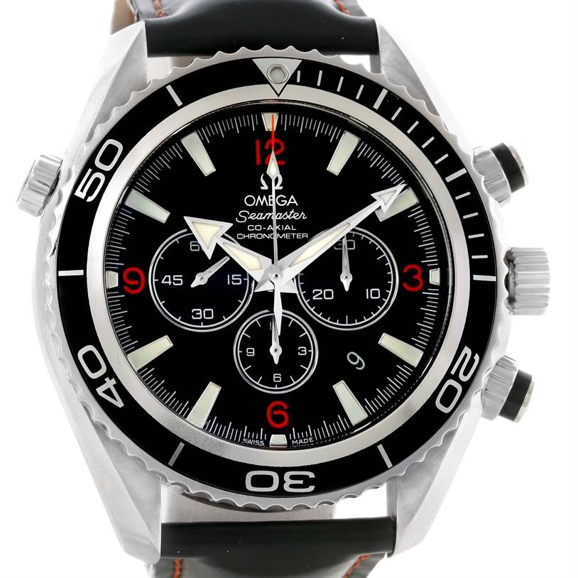Omega Seamaster Planet Ocean Rubber Strap Chronograph Watch 2210.51.00