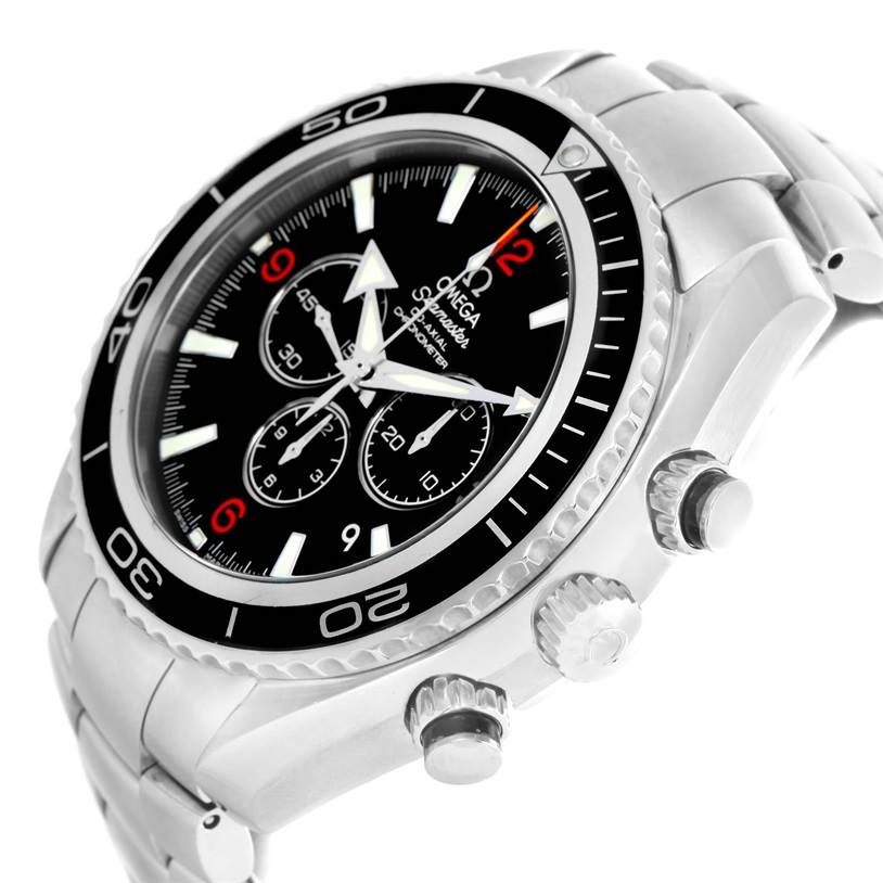 12425 Omega Seamaster Planet Ocean Chronograph Mens Watch 2210.51.00 SwissWatchExpo