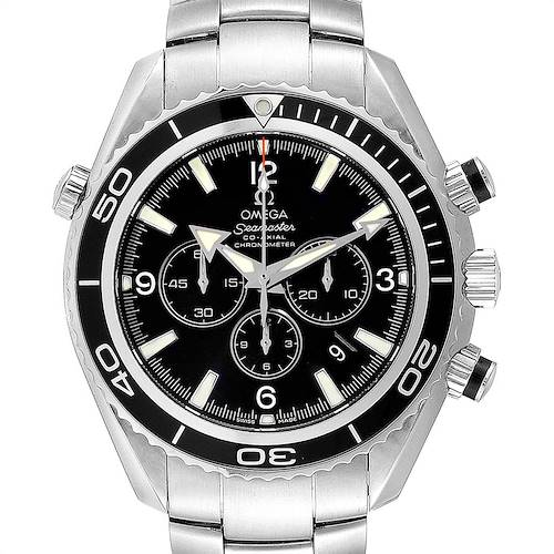 Photo of Omega Seamaster Planet Ocean Chronograph Mens Watch 2210.50.00 Box Card