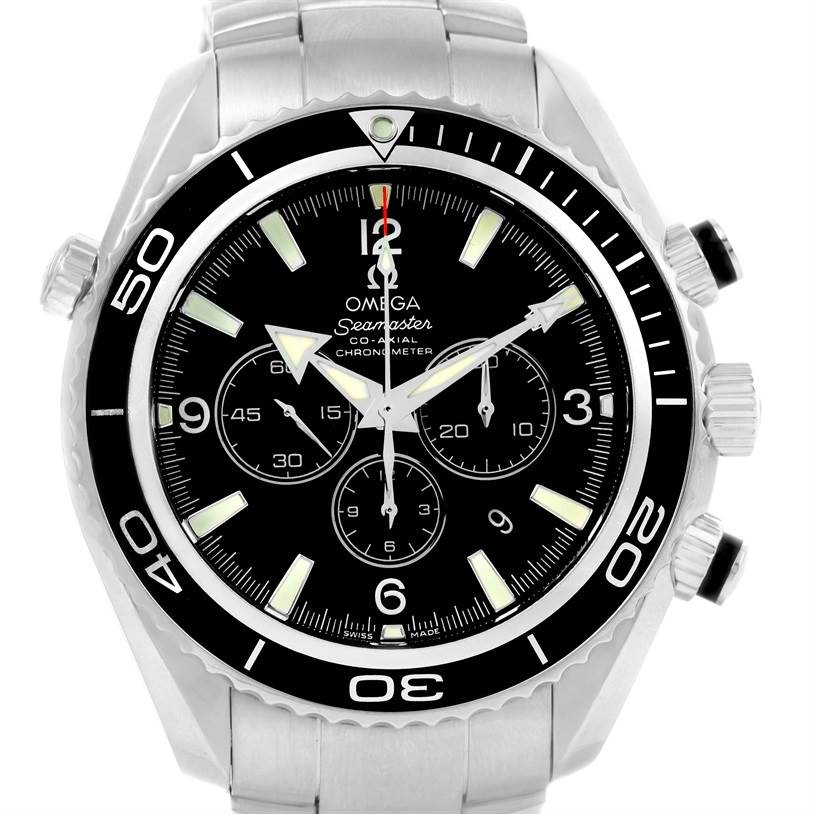 12725 Omega Seamaster Planet Ocean Chronograph Watch 2210.50.00 SwissWatchExpo