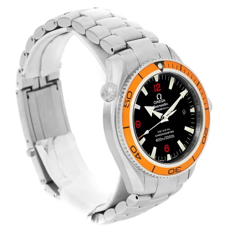 omega seamaster planet ocean orange bezel mens watch 2209. Black Bedroom Furniture Sets. Home Design Ideas