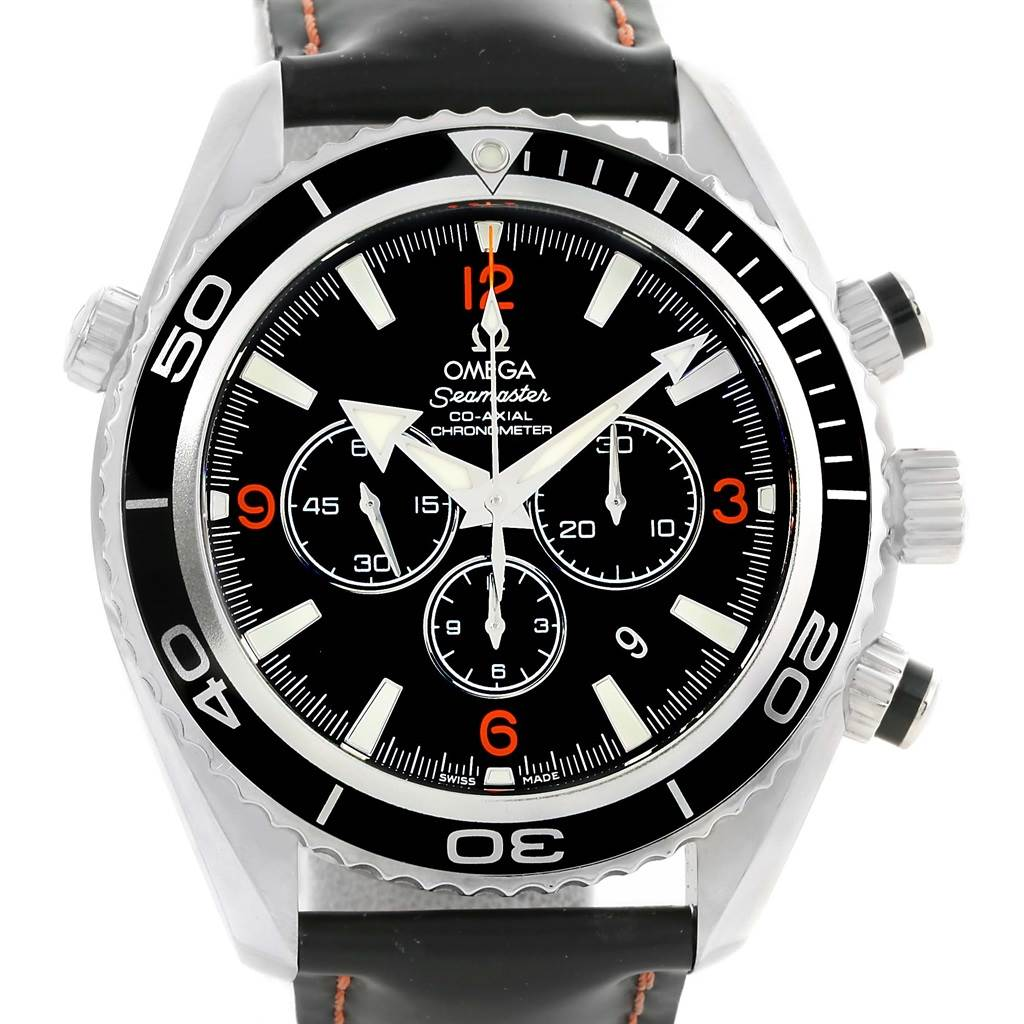 stainless planet mens seamaster owned omega second ocean s steel details chronograph hand men watch pre watches product