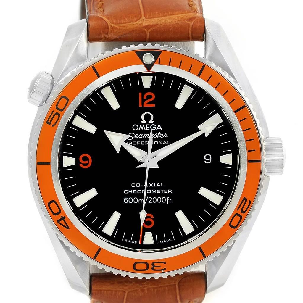 13390 Omega Seamaster Planet Ocean Orange Bezel Watch 2909.50.38 Box Papers  SwissWatchExpo ...