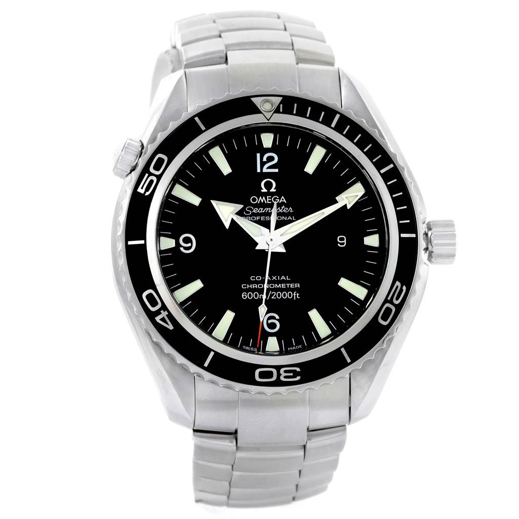 omega seamaster planet ocean xl co axial steel mens watch. Black Bedroom Furniture Sets. Home Design Ideas