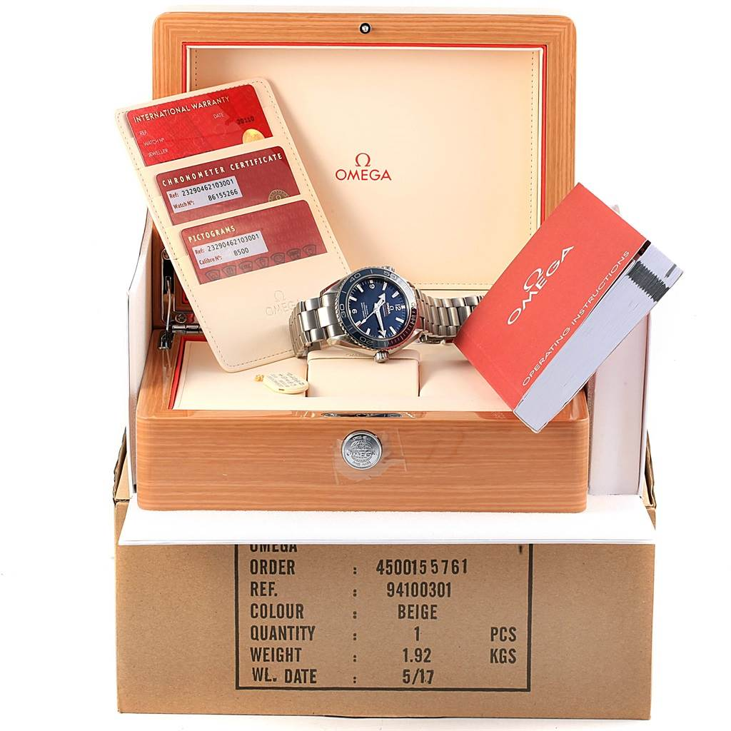 Omega Seamaster Planet Ocean Titanium Watch 232.90.46.21.03.001 Unworn SwissWatchExpo