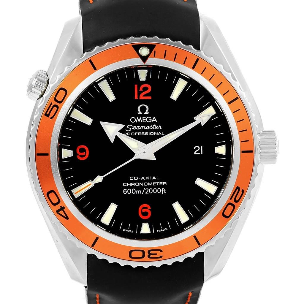 Omega Seamaster Planet Ocean Orange Bezel Mens Watch 2909.50.82