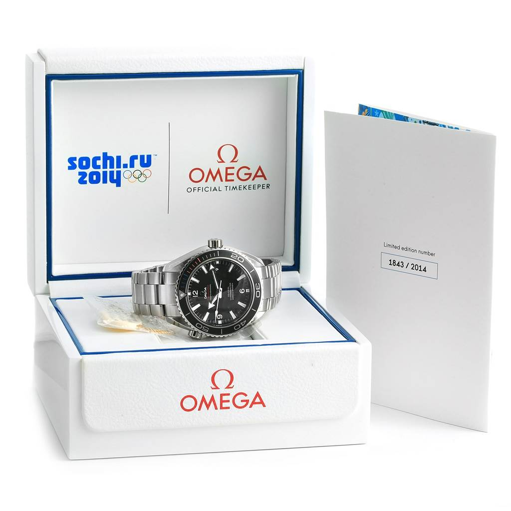 17942 Omega Planet Ocean Olympic Sochi Limited Edition Watch 522.30.46.21.01.001 SwissWatchExpo