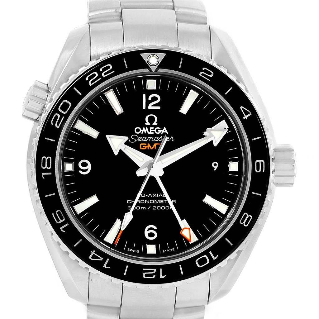Omega Seamaster Planet Ocean GMT Watch 232.30.44.22.01.001 Box Papers