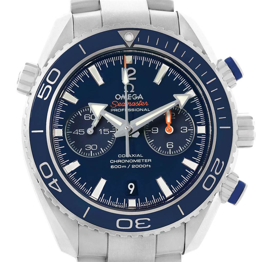 21310 Omega Planet Ocean Co-Axial Titanium Watch 232.90.46.51.03.001 Unworn SwissWatchExpo