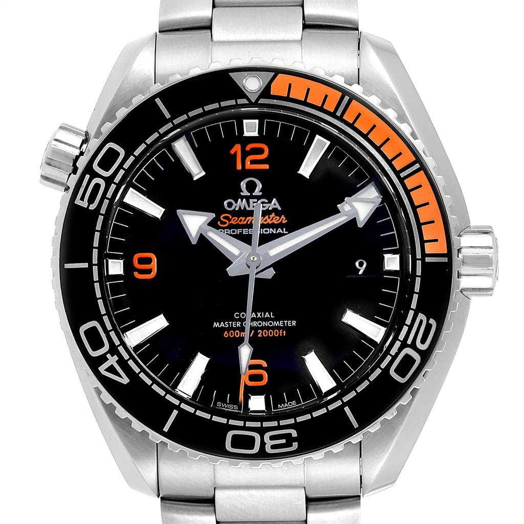 Omega Planet Ocean 600M Black Orange Bezel Watch 215.30.44.21.01.002