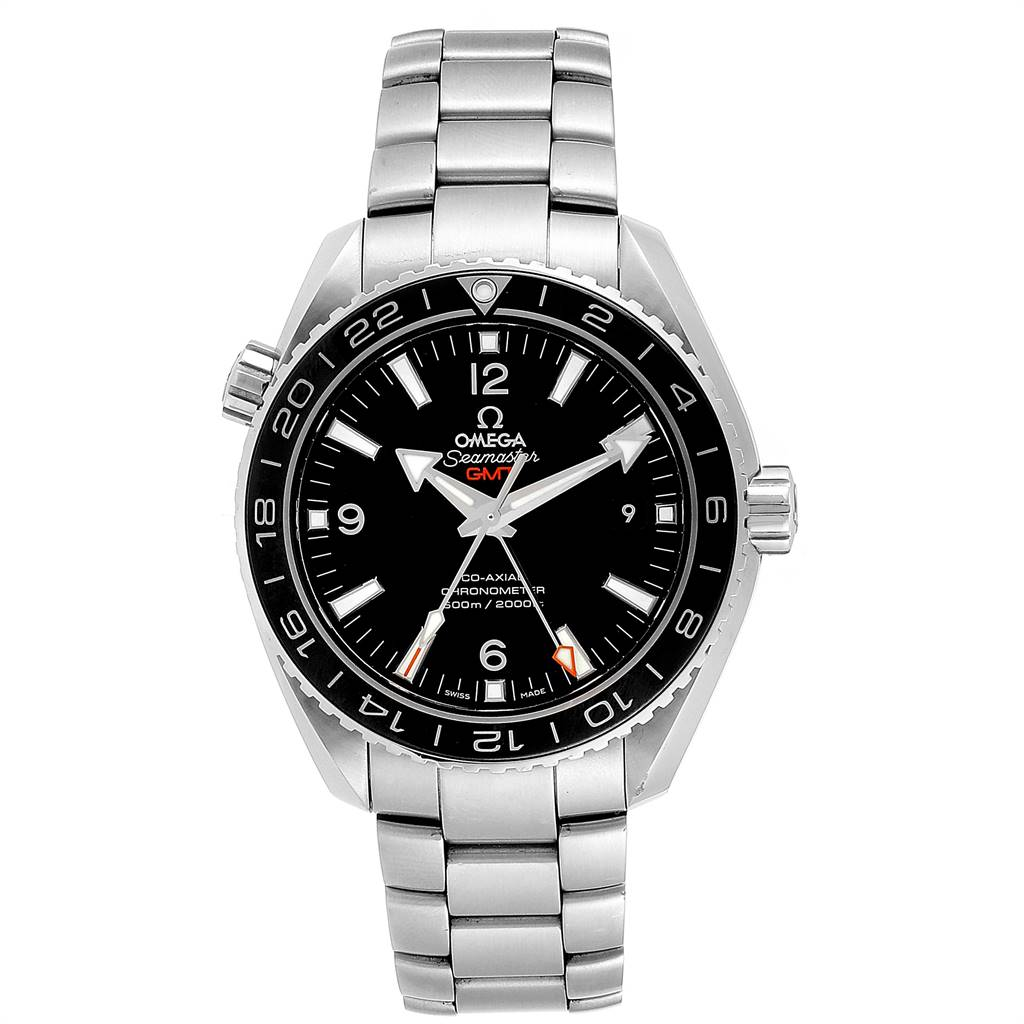 Omega Seamaster Planet Ocean GMT Watch 232.30.44.22.01.001 Box Card SwissWatchExpo