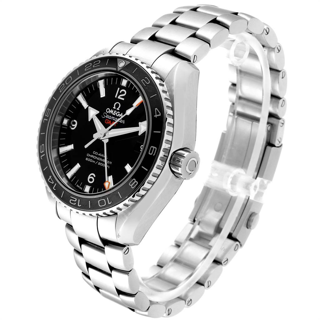 24556 Omega Seamaster Planet Ocean GMT Watch 232.30.44.22.01.001 Card SwissWatchExpo