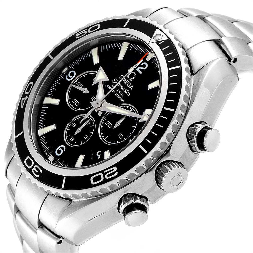 Omega Seamaster Planet Ocean Chronograph Watch 2210.50.00 Card SwissWatchExpo