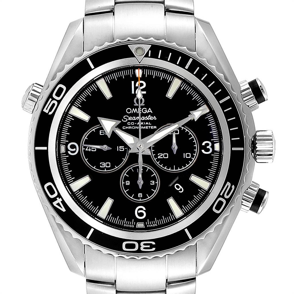 Omega Seamaster Planet Ocean Chronograph Steel Mens Watch 2210.50.00