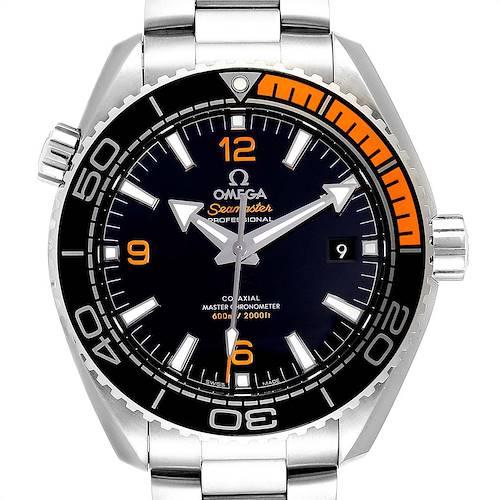 Photo of Omega Planet Ocean Black Orange Bezel Watch 215.30.44.21.01.002 Box Card