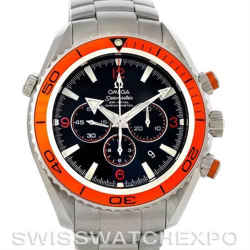 Photo of Omega Planet Ocean Seamaster Chronograph Mens Watch Orange Bezel 2218.50.00