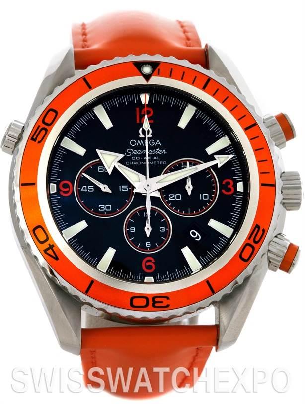 Omega Seamaster Planet Ocean Chronograph Mens XL Watch 2918.50.83