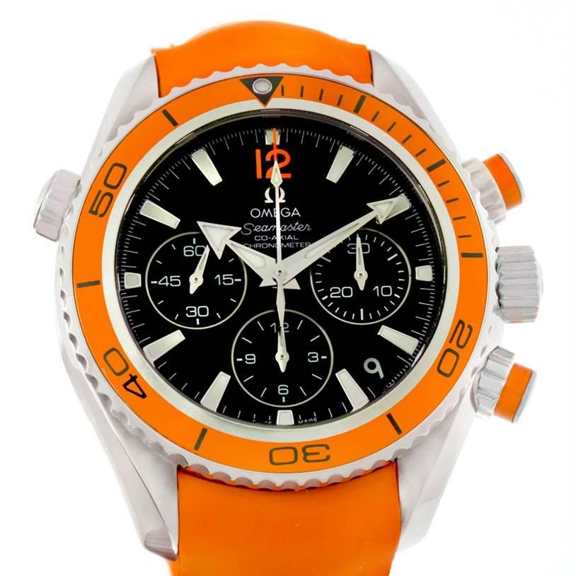 Omega Seamaster Planet Ocean Orange Bezel Midsize Watch 222.32.38.50.01.003