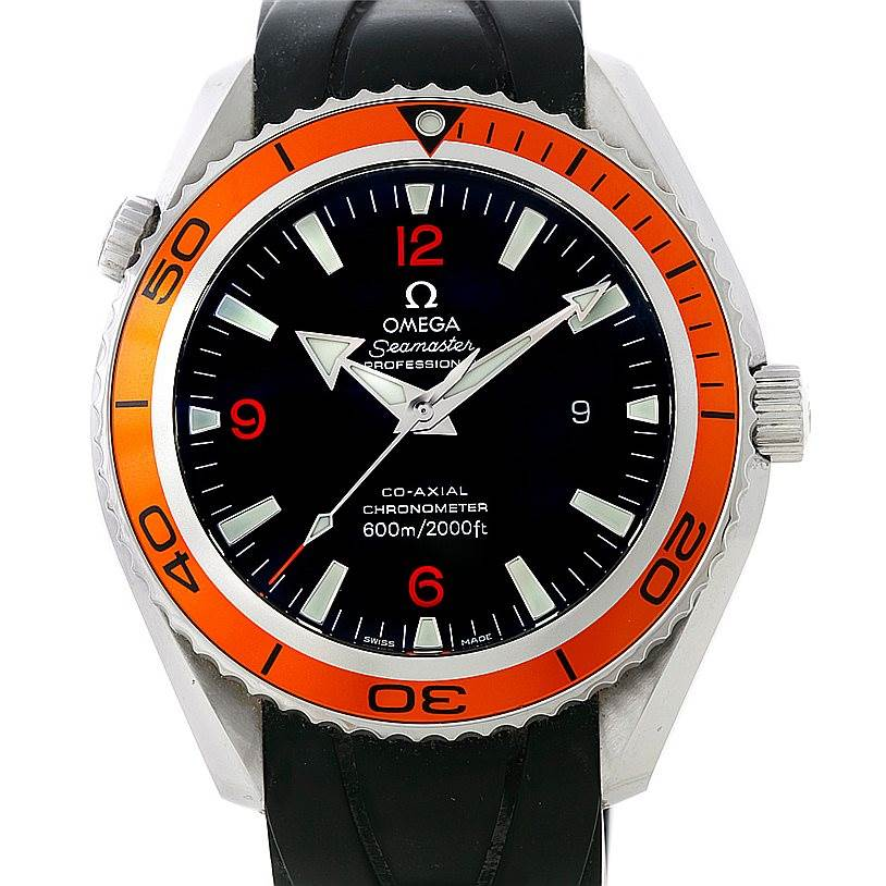 8372 Omega Seamaster Planet Ocean Mens Watch 2909.50.91 SwissWatchExpo