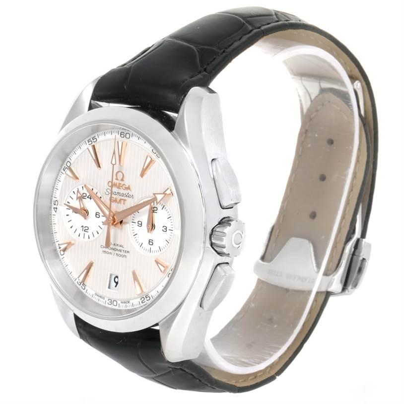 12233 Omega Seamaster Aqua Terra GMT Watch 231.13.43.52.02.001 Unworn SwissWatchExpo