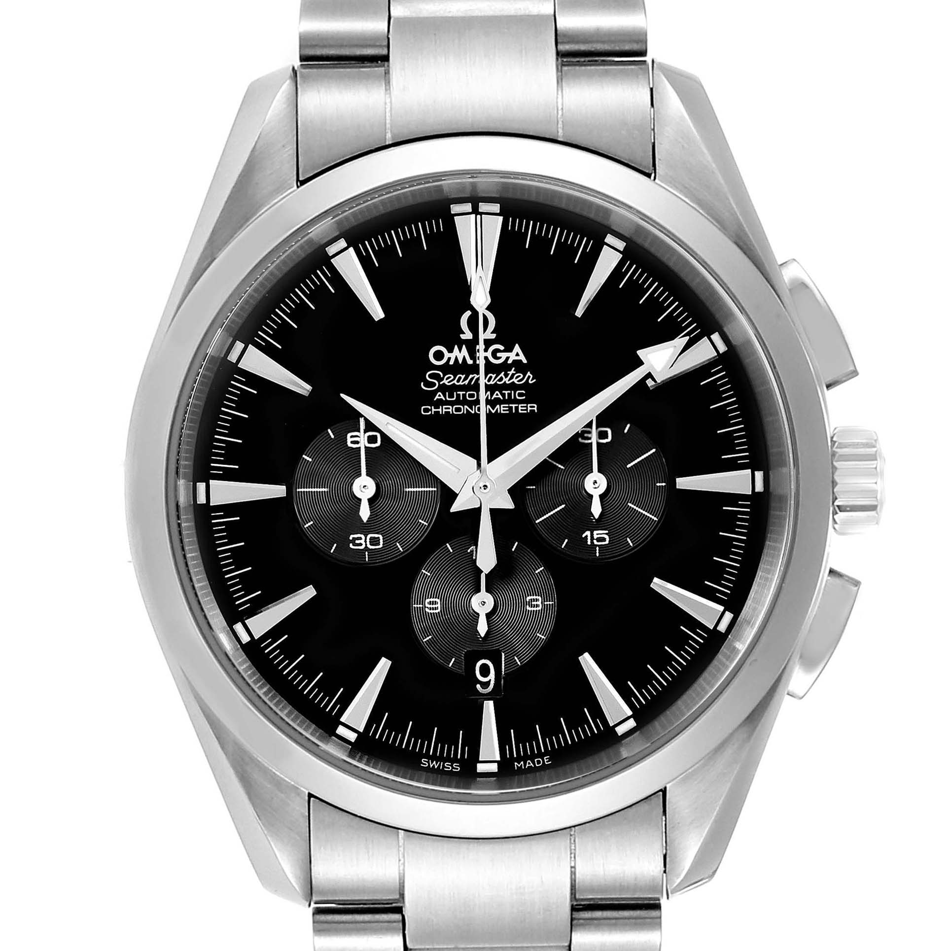 Omega Aqua Terra Black Dial Chronograph Steel Mens Watch 2512.50.00