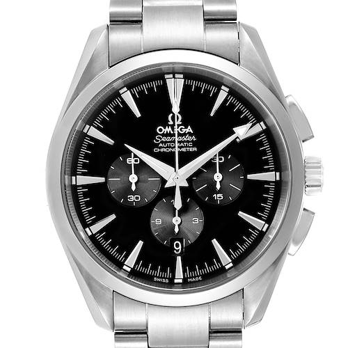 Photo of Omega Aqua Terra Black Dial Chronograph Steel Mens Watch 2512.50.00