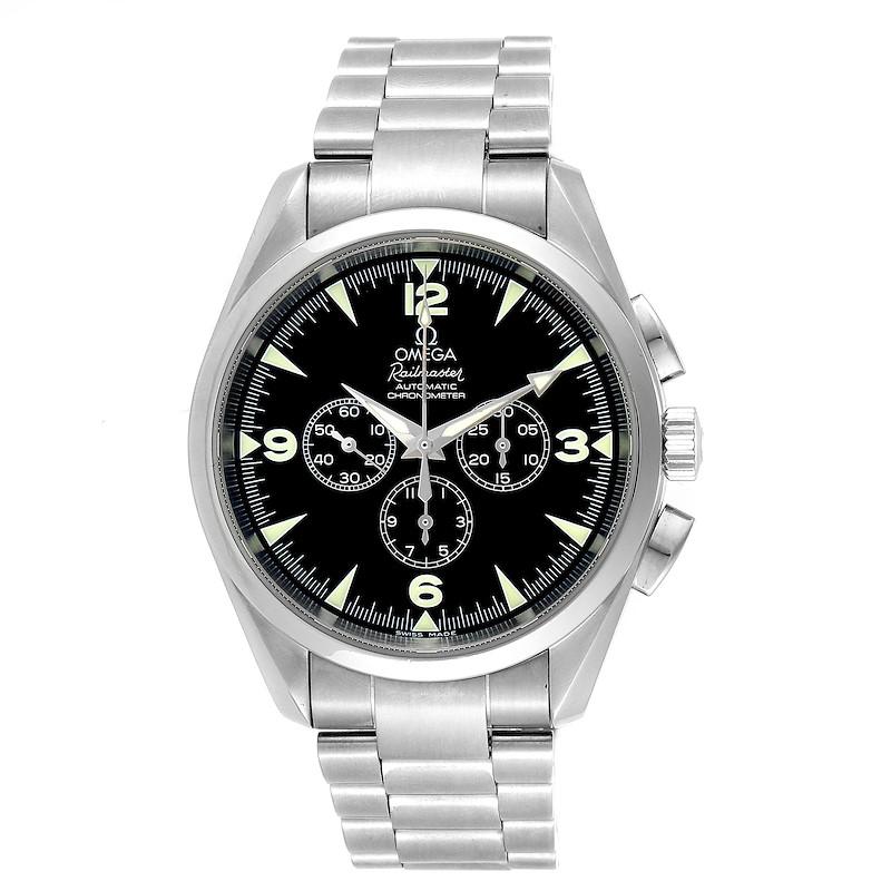 Omega Aqua Terra Railmaster Mens Chronograph Watch 2512.52.00 Papers SwissWatchExpo