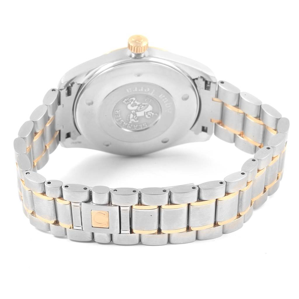 0d1f98b12051 17977 Omega Seamaster Aqua Terra Steel Yellow Gold Silver Dial Watch  2317.30.00 SwissWatchExpo ...