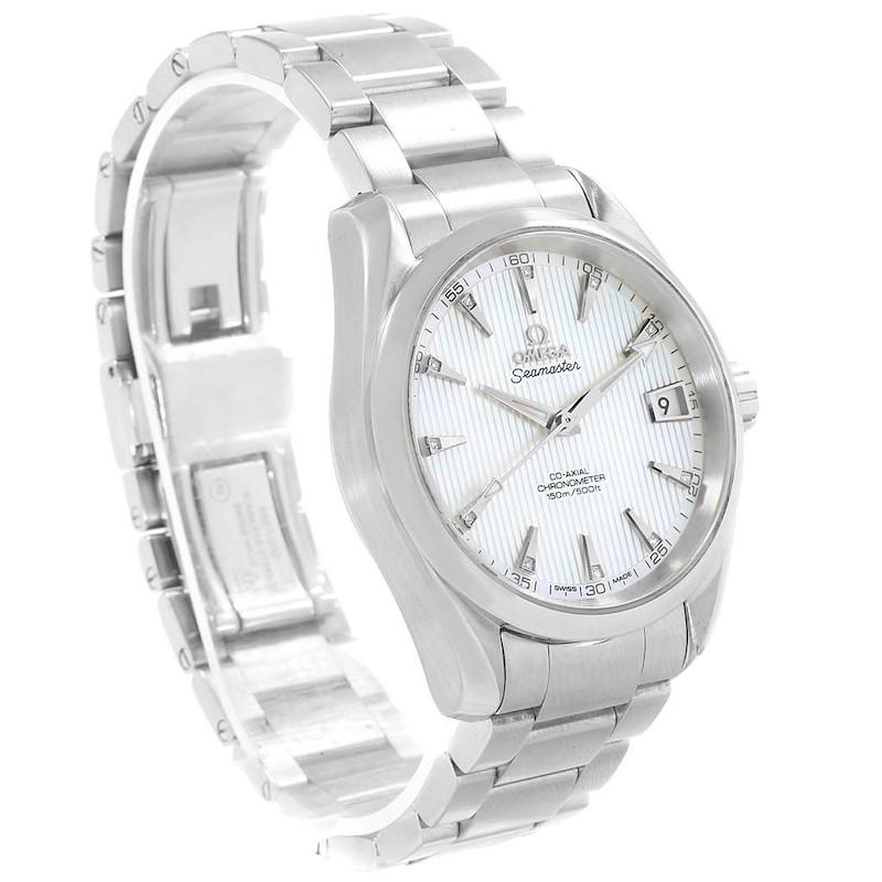 Omega Seamaster Aqua Terra MOP Diamond Watch 231.10.39.21.55.001 SwissWatchExpo