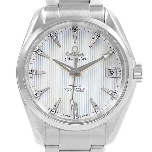 Omega Seamaster Aqua Terra MOP Diamond Watch 231.10.39.21.55.001