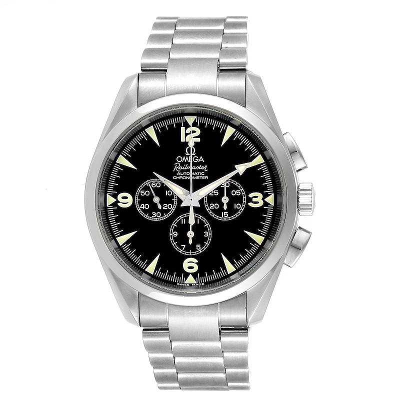Omega Aqua Terra Railmaster Steel Mens Chronograph Watch 2512.52.00 SwissWatchExpo